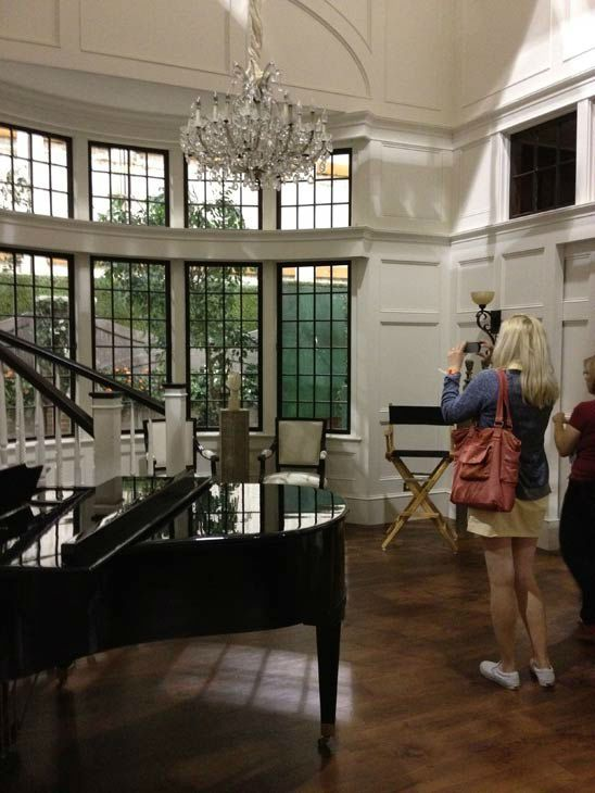 Pictured Is The Inside Of Grayson Manor From The Set Of