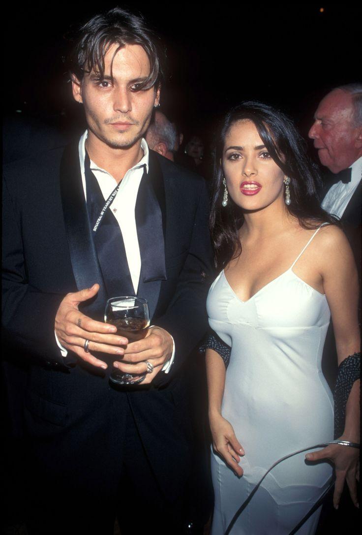 Johnny Depp & Salma Hayek in 1995
