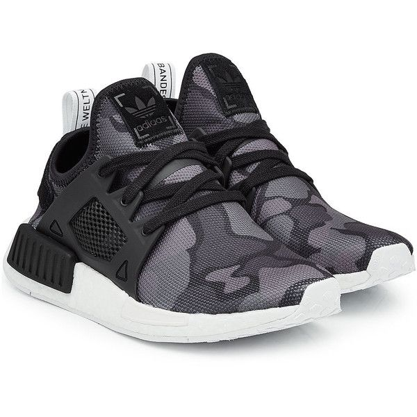 Adidas Originals NMD XR1 Sneakers ($150) ❤ liked on Polyvore featuring shoes, sneakers, multicolored, multi colored shoes, camo shoes, adidas originals shoes, adidas originals and camo sneakers