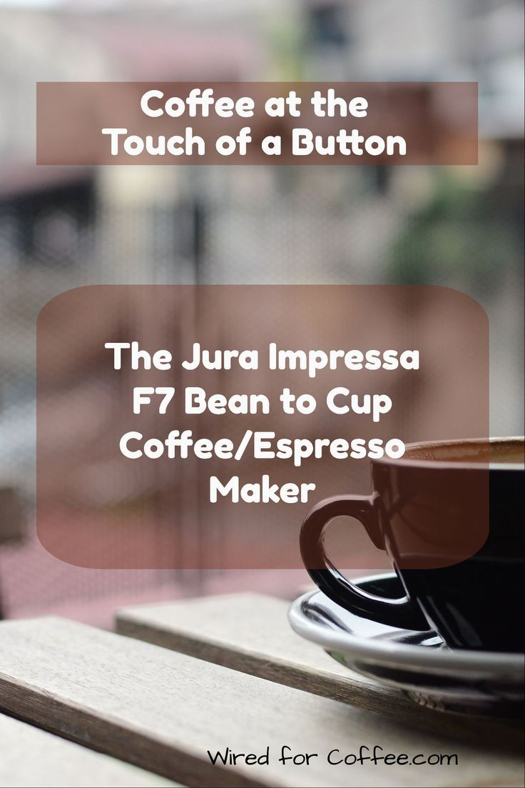 The Jura Impressa F7 gives you fresh ground and freshly made coffee at the press of a button. It also makes it easy to make milk flavored drinks by having a separate frothing wand.