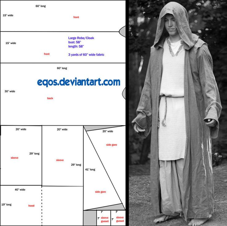 Pattern: Large Hooded Cloak by ~eqos on deviantART