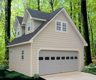 Modular garages with apartment perfect garage is for Prefab 2 car detached garage