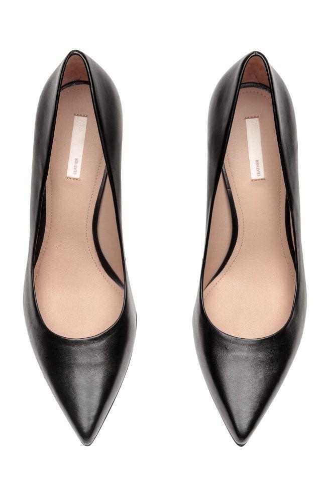 aa8f0c112cb1 Court shoes - Black Leather - Ladies