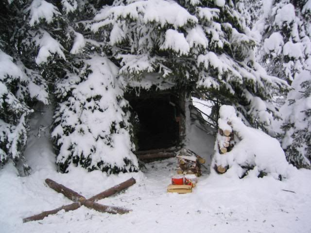 Winter Shelter on a Norway, survival course