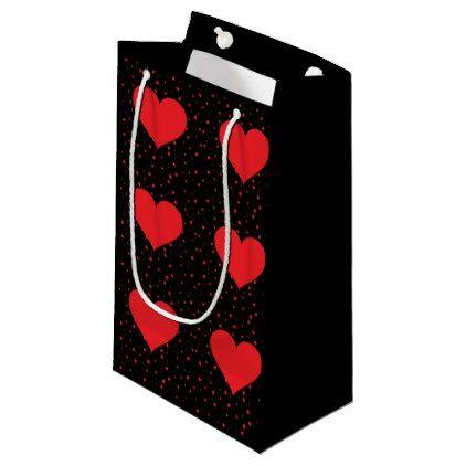 Red heart black ground Valentine's Day gift bags - craft supplies diy custom design supply special