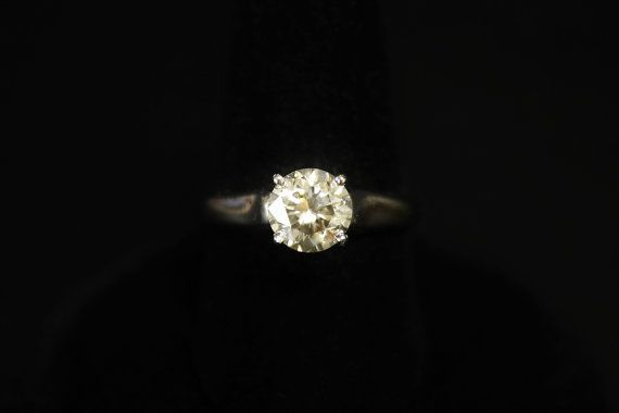 1.05 Carat Diamond Wedding Ring Solitaire White Gold by june2six, $2450.00