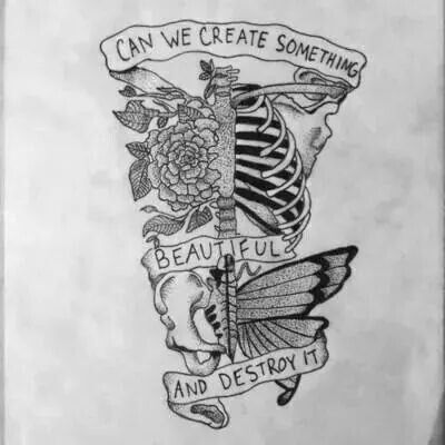 Can We Create Something Beautiful And Destroy It