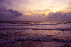 Sunset scenery at the Galle Face Hotel