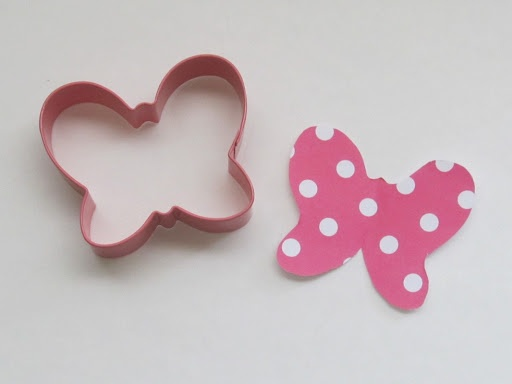 Minnie Mouse bow. Oh my gosh no way - its just a butterfly. All that time spent looking for a bow and here I had a butterfly cookie cutter at home all along! Drat