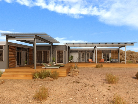 Sustainable Design Of Prefab Joshua Tree Desert Home By Blu Homes