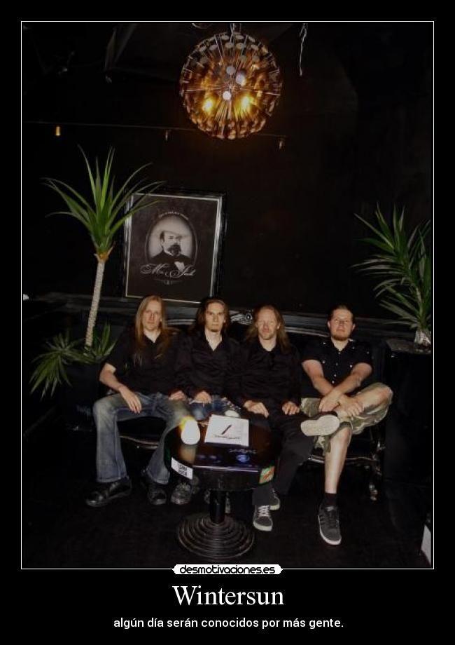 carteles wintersun death metal melodico teemu jari desmotivaciones
