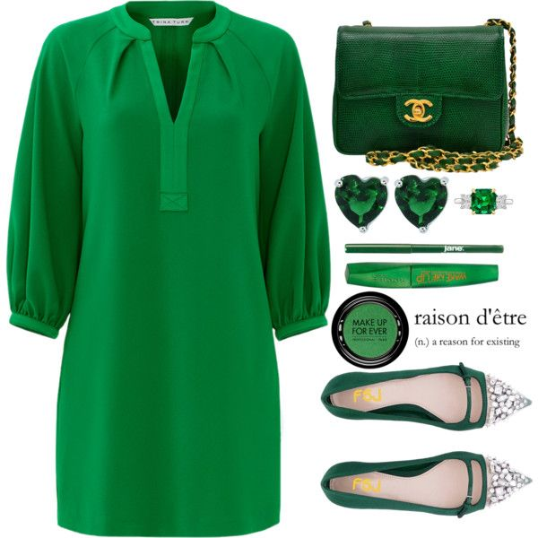 Fsjshoes by simona-altobelli on Polyvore featuring polyvore, fashion, style, Trina Turk, Chanel, Betteridge, MAKE UP FOR EVER, Rimmel, jane and clothing