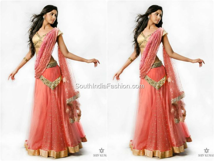 Half Saree Style For Teens | Posted by South Fashions on 9:30 AM