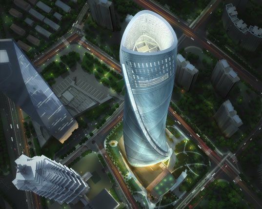 China's Spiraling Shanghai Tower Will Spin Towards The Sky - [Click on Image Or Source on Top to See Full News]