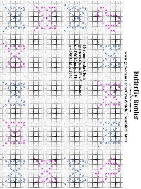 Free cross-stitch butterfly bookmark patterns  | Free Butterfly Cross StitchPatterns