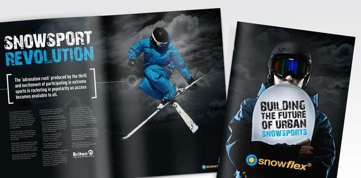 In 1979 engineer Brian Thomas formed Briton Engineering Developments - a company born from combining his two passions for winter sports and engineering.  As UK winters became less reliable for snow, Briton's dedication to innovation took a new direction with the invention of a revolutionary artificial snowsports surface called 'Snowflex'.  Totality GCS were approached to help develop a range of promotional material, aimed specifically at architects and property developers.