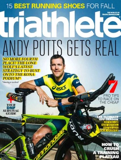 Triathlete Magazine November 2016 ANDY POTTS, DNF Survival Guide, Kona Triathlon
