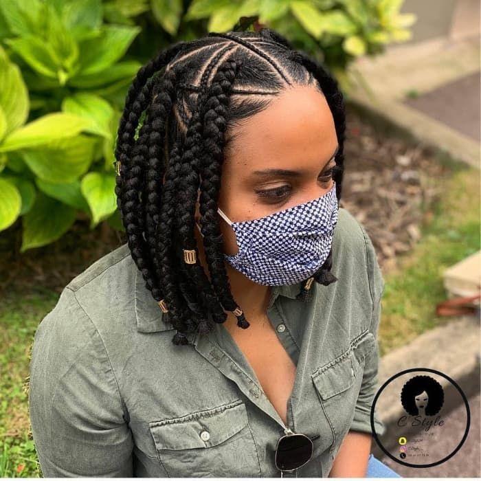 21++ Short hair braid styles for black hair inspirations