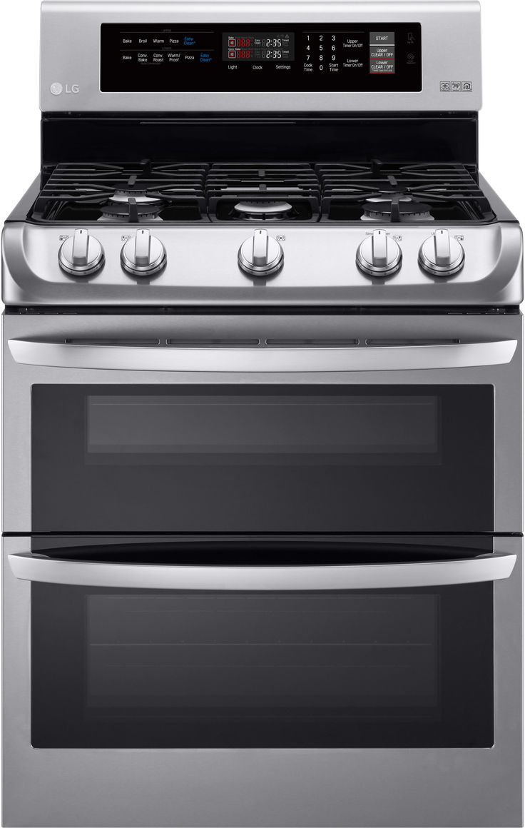 LG LDG4311 30 Inch Double Oven Gas Range with 5 Sealed Burners, 6.9 cu. ft. Capacity, ProBake Convection, 17,000 BTU SuperBoil Burner, 10 Min EasyClean Mode and Glass Touch Controls