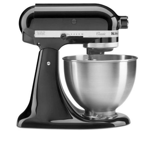 4.5 Qt Stand Mixer Black Tilt Up Mixer Head Stainless Steel Mixing Bowl #KitchenAid