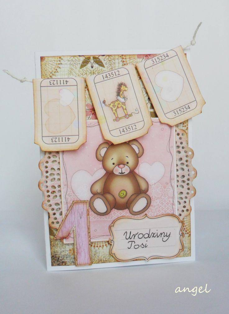 kartka na pierwsze urodziny