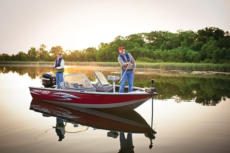 1000 images about crestliner on pinterest bass boat for Aluminum fish and ski boats