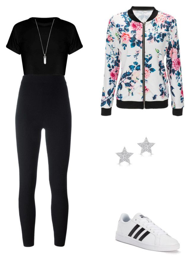 """Sem título #10"" by mhpassos on Polyvore featuring moda, WithChic, adidas, Yeezy by Kanye West, Diamond Star e Marc Jacobs"