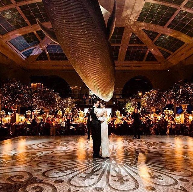 One word to describe this magical photograph: mind-blowing! Intrigued with the chosen museum venue as it brings out an intimate and romantic feeling to the photograph. Who wants a wedding as beautiful as this one? Double tap and share your thought below!  Photographer @brian_dorsey_studios / Couple @mdishi @elizabethdishi / Venue @amnh