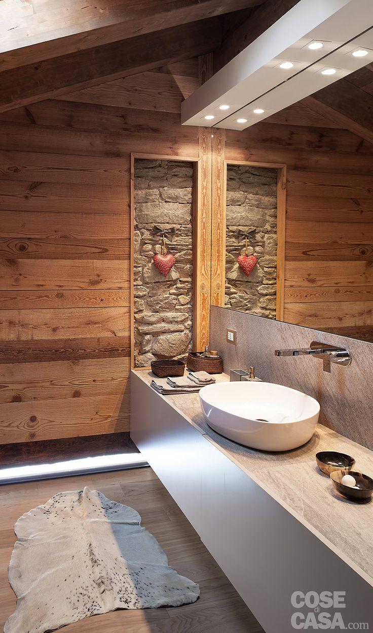 chalet style bathroom