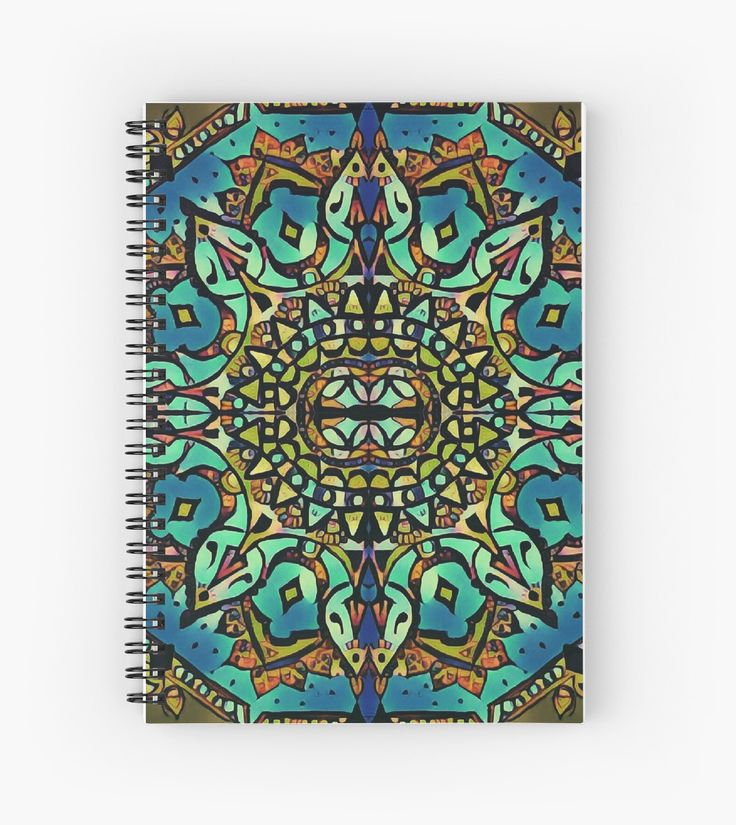 The Four Kingdoms Spiral Notebooks  medieval mediaeval mandala abstract ornament pattern