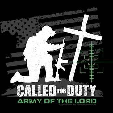 Religious Christian Soldier Cross T Shirt Called for Duty Army of The Lord s 6X | eBay