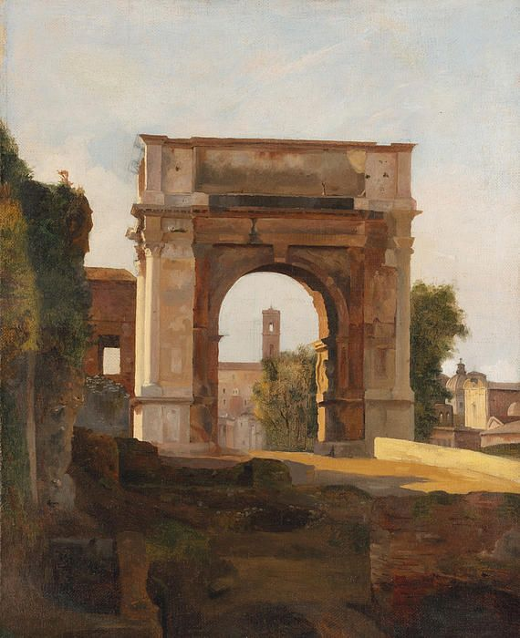 The Arch Of Titus And The Forum. Rome  Jules Coignet