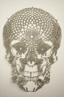 Calavera de ganchillo: Skulls, Hunters, Idea, Hunter Stabler, Papercut, Paper Art, Cut Paper, Paper Cutting