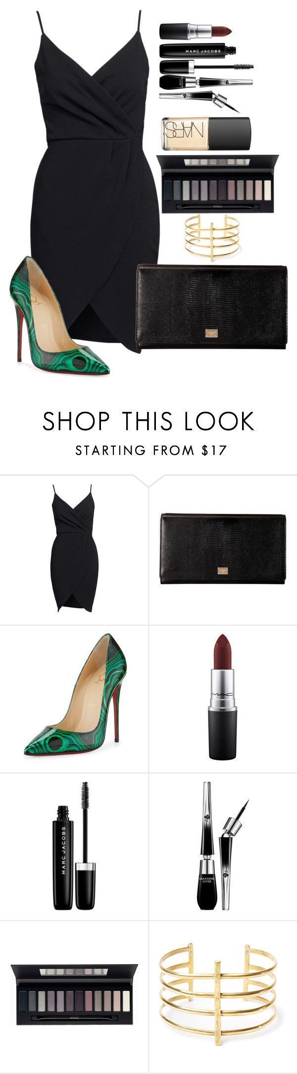 Untitled #1534 by fabianarveloc on Polyvore featuring Dolce&Gabbana, Christian Louboutin, MAC Cosmetics, Marc Jacobs, Lancôme, ArtDeco, BauXo and NARS Cosmetics