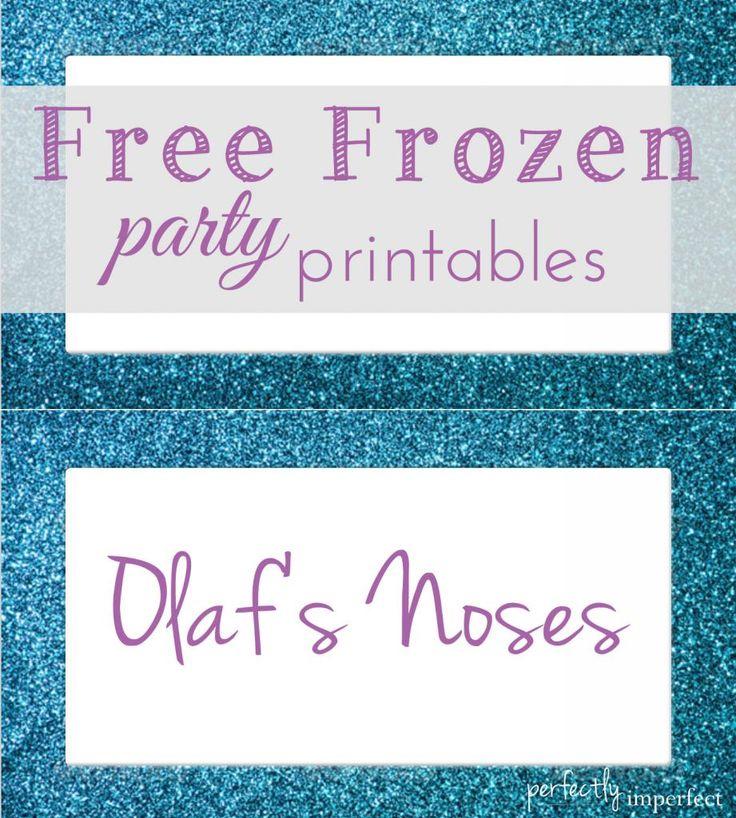 Free Frozen Party Menu Card Printables