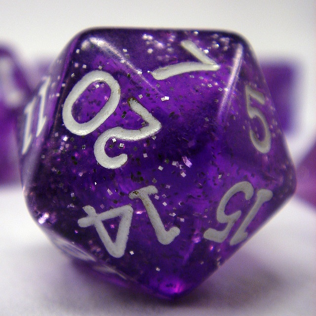 20 sided dice - no dungeon master worth his weight in geldings leaves home without their twenty-sided die