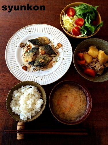 簡単!!魚料理】サバのガーリックオイル焼きの献立と、レシピブログ ...