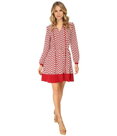 RED VALENTINO Slipper Print Dress Ruby - 6pm.com 895-224