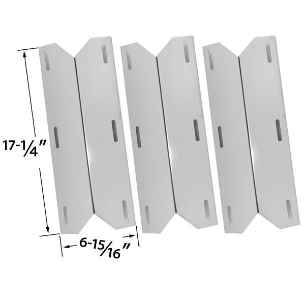 3 PACK STAINLESS STEEL HEAT COVER FOR STERLING FORGE, CHARMGLOW, COSTCO KIRKLAND 720-0432, NEXGRILL GAS MODELS Fits Compatible Sterling Forge Models : 720-0016, Chateau 720-0058, Courtyard 720-0016 Read More @http://www.grillpartszone.com/shopexd.asp?id=33497&sid=25390