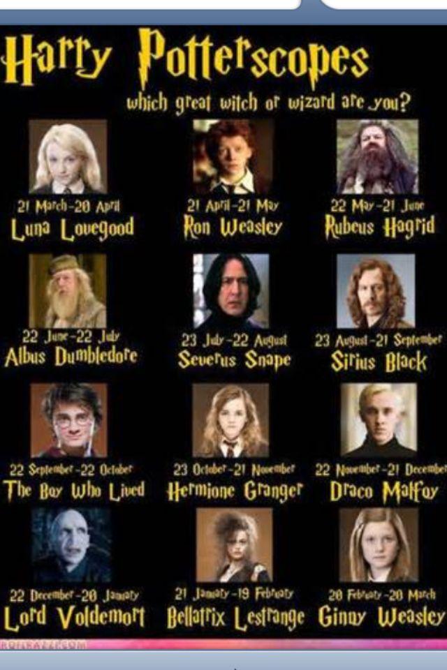 Harry potter horascope I'm harry