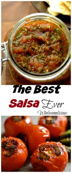 Not your average salsa. Authentic and real Mexican salsa made by charring your tomatoes and peppers. Delicious!