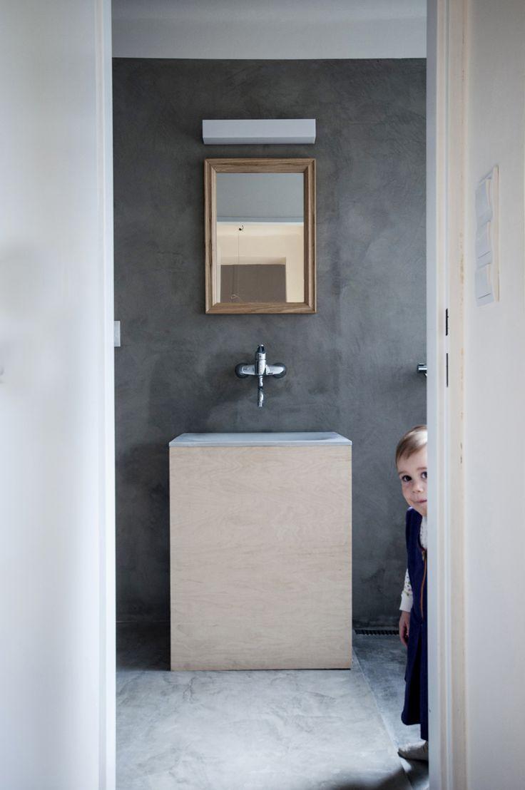 betonová koupelna I concrete bathroom I sink I betone design