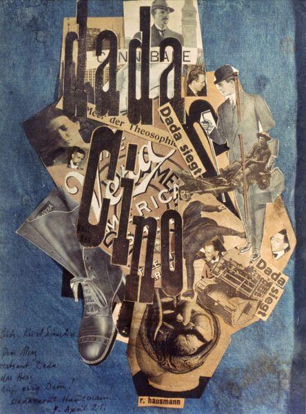 Raoul HAUSMANN. Dada im gewöhnlichen Leben (DADA Cino), 1920. Collage et photomontage sur papier, 31.7 x 22.5, collection particulière