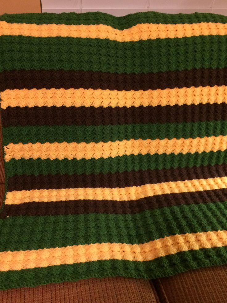 Crochet Pattern For John Deere Afghan : John Deere crocheted baby blanket using Lion Brand Vannas ...