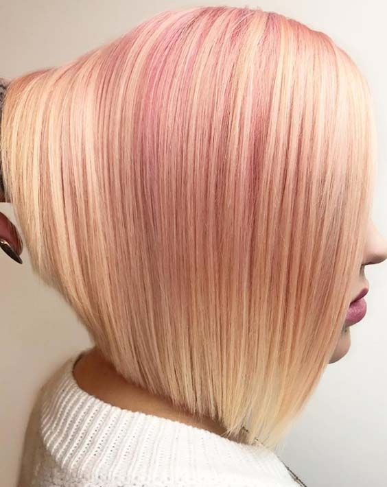 Hottest trends of buttered rose gold hair colors for bob hairstyles to sport in 2018. No doubt bob are one of those haircuts which much famous and fashionable among ladies of different age groups. Find here the most amazing trends of hair colors to wear with bob hair right now.