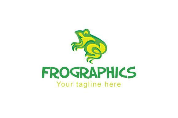 Frographics Logo by VecRas Creations on Creative Market #LogoVenue #vecras #logoservices #vectorgraphic #logo #customservices #stocklogo #stockservices #stocklogos #creativelogo #logodesign #logodesignservice #design #graphic #froglogo #frog #animal #grahics #animallogo