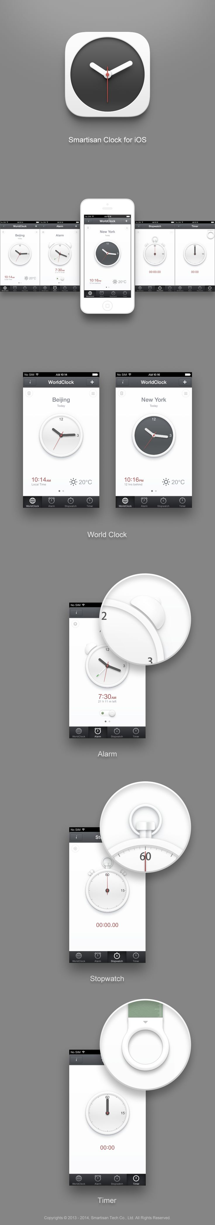 may be a bit too stylish, doesn't get more minimal than this  Smartisanos_clock