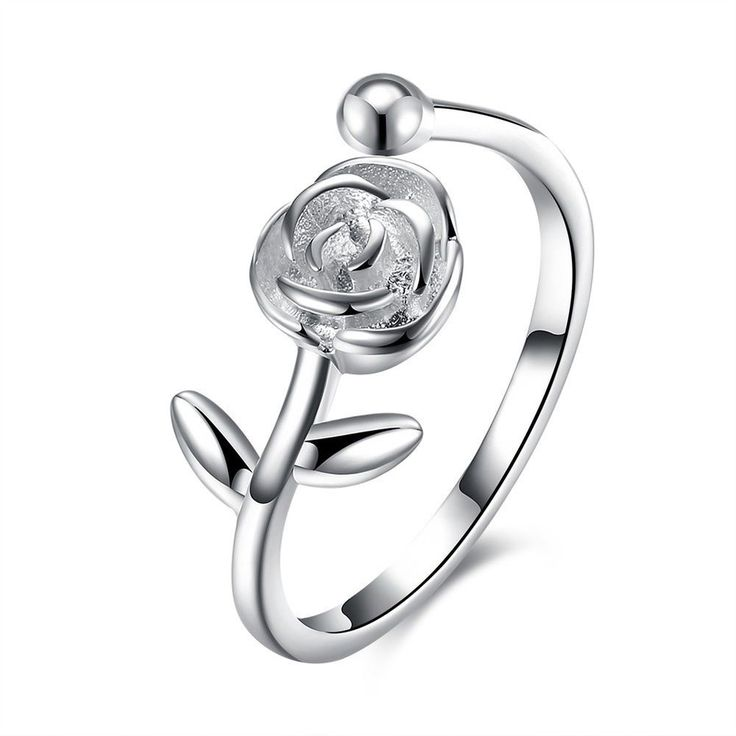 Ring Rose 925 Silber Blume  | eBay
