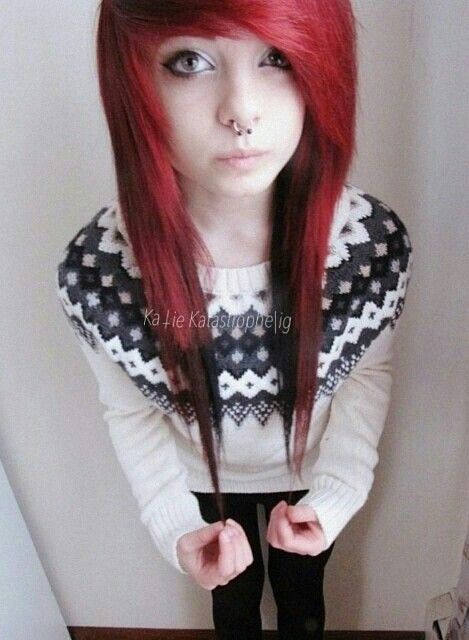 Red scene hair
