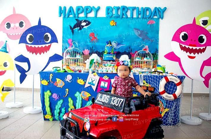 Geo 1st Birthday Party Dessert Table By Eska Cakes Birthday Cake Baby Shark By Shark Theme Birthday Shark Themed Party Shark Themed Birthday Party